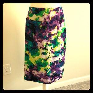 NWT Gorgeous Watercolor Print Skirt
